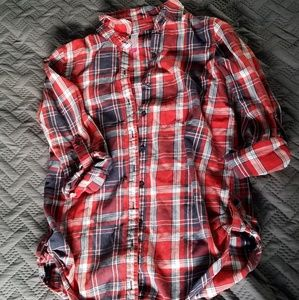 NoBo flannel plaid button down shirt